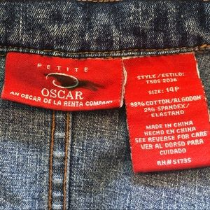 Oscar de la Renta Jackets & Coats - Oscar Denim Jacket